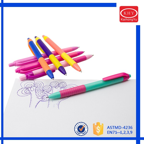 Colored barrel promotional product ABS material ballpoint pen