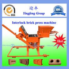 YF2-40Alibaba China Supplier clay soil interlocking brick making machine