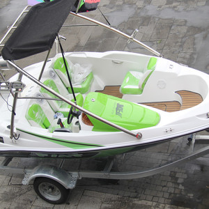 4.6m mini jet ski boat with 90hp 4 stroke outboard engine