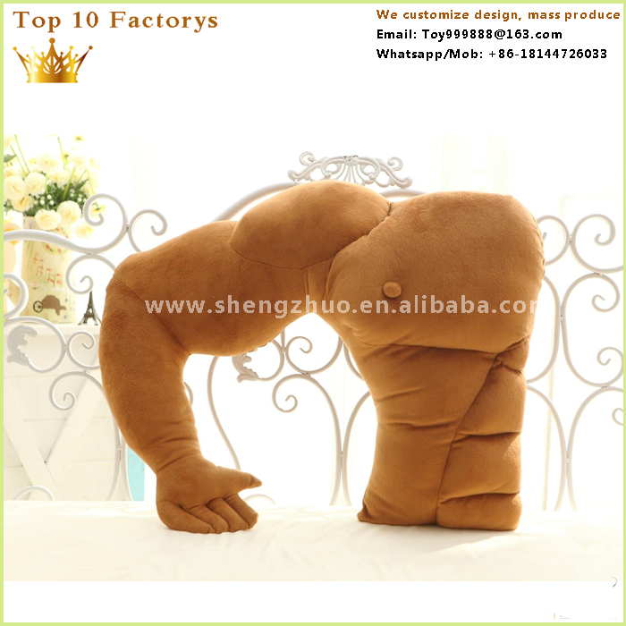 Large size strong muscle boy friend u shape pillow total body pillow