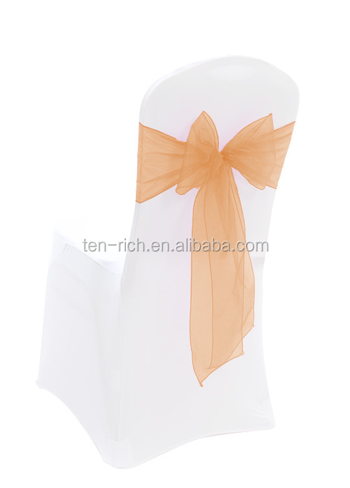 beautiful peach organza chair cover and sashes for sale
