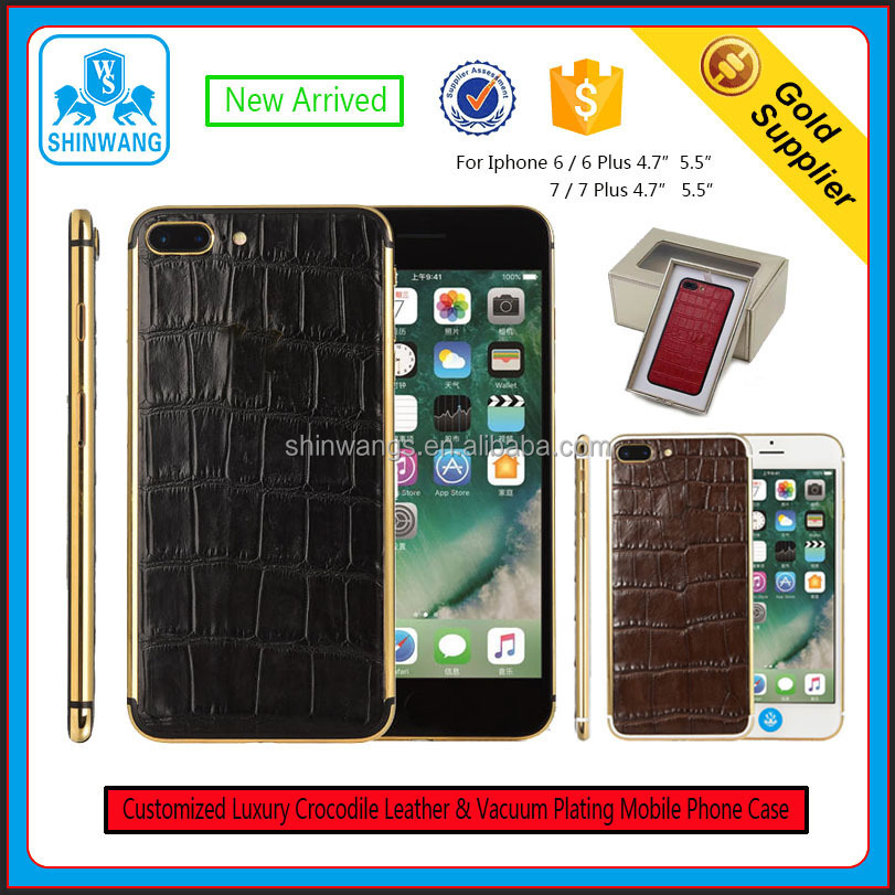 Customize Luxury Real Leather Mobile Phone Case / Housing for IPhone 7/7 Plus