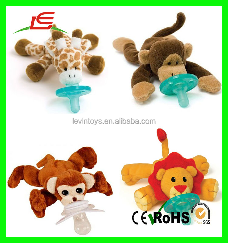 ICTI audited OEM/ODM manufacturer made in China pacifier with plush toy