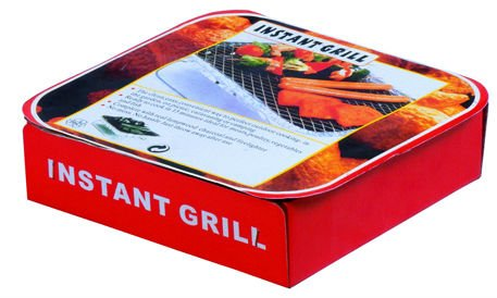 Eco Friendly Disposable Barbecue Grill one-off grill 22cm*22cm*5cm