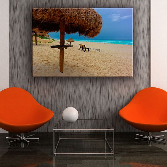 Parasol beach and sea modern chinese wall art painting in hot sale