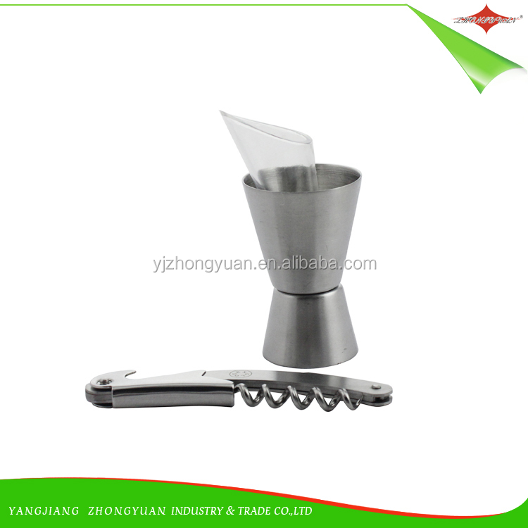 ZY-F159 High Quality Stainless Steel luxury Bar Tool Set Cocktails Shaker Set