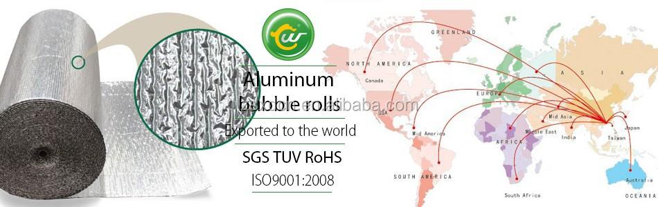 Aluminum Bubble Foil Roll Heat Reflective Insulation