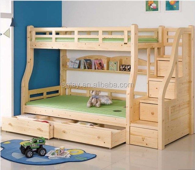 solid wood bed for kids very usefull