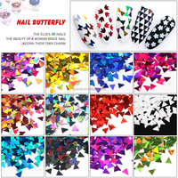 Nail Art Triangle Shapes Nail Stick Sequins DIY Nail Art Decoration