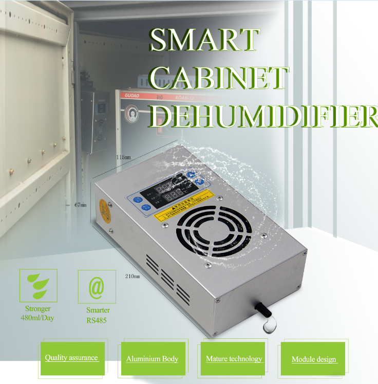60W dehumidifier for switchgear and telecom cabinet