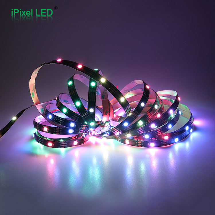 30 LED 5050 SMD White PCB WS2813 Individually Addressable Digital RGB LED Light Strip Waterproof 4 pins