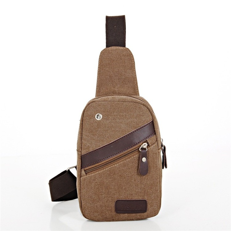 Wholesale durable fashion canvas one <strong>shoulder</strong> strap sling backpack chest bag from Guangzhou factory