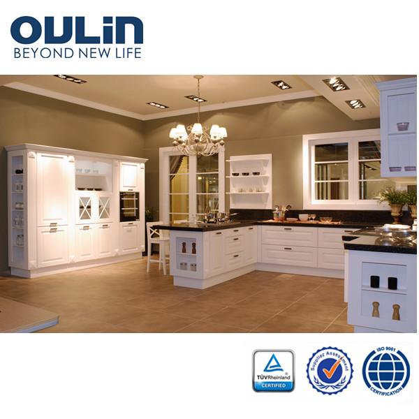 Full Kitchen Cabinet Set: 2014 Moderne Goedkope Houten Modulaire Keuken Kasten Post