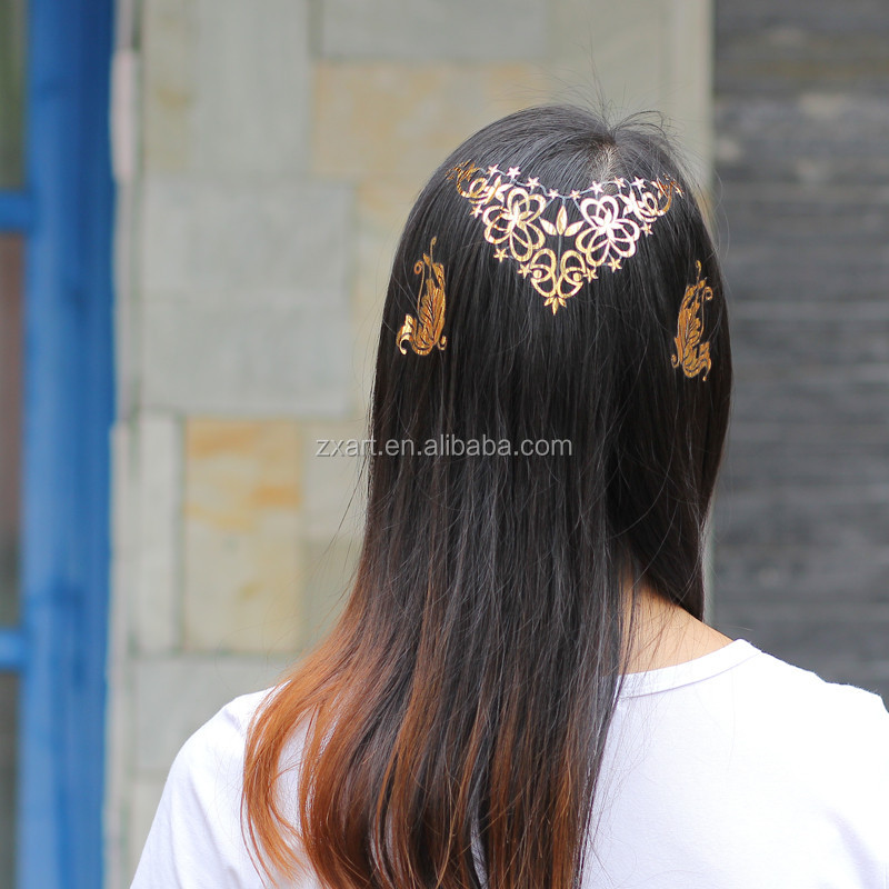 popular 2016 hot sell hair and metallic gold tattoo removal tattoo sticker