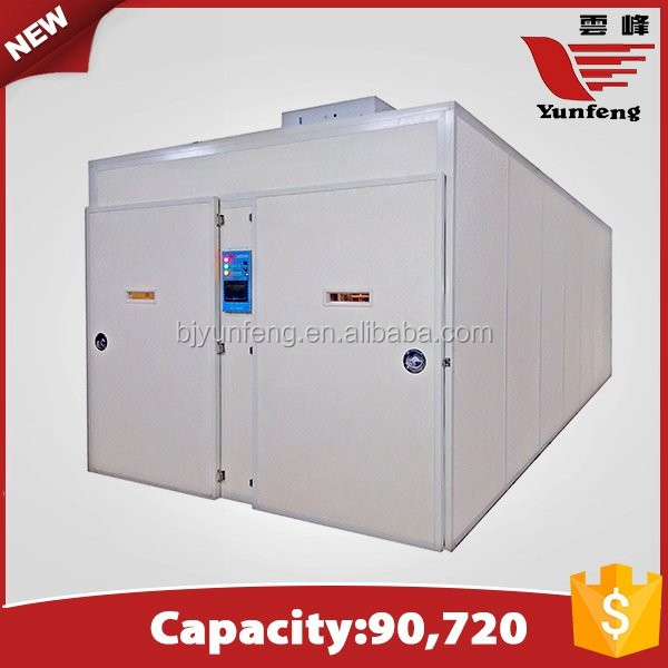 YFXF-90 best price Multi-stage 90720 eggs automatic chicken incubator/hatcher
