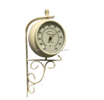 metal antique two face double sided wall clocks station wall clock metal for outdoor