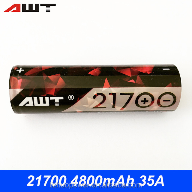 Portable power source 21700 AWT b size batteries 4800mah 35A lithium ion battery for vaporizer herb