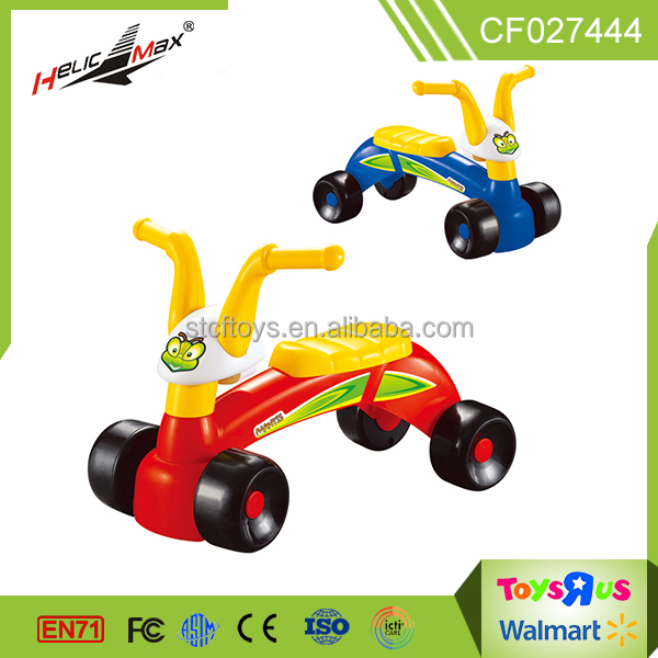 2017 new baby toy car ride on slide four wheeled child car with music toys for kids