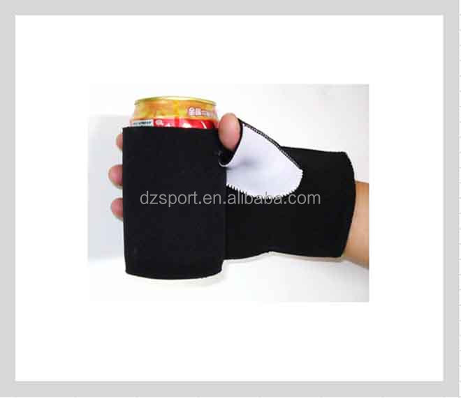 OEM Neoprene can glove cooler Glued Neoprene can coozie with glove beer bottle stubby cooler holder for Pub