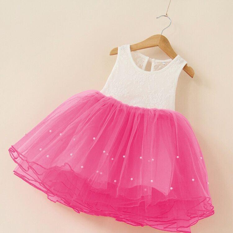 Unikids Girls Dresses Summer Tutu Princess Baby Flower Costume Lace ...