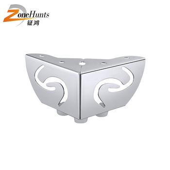 L Shaped Decorative Elegant Metal Couch Feet L-Shaped Furniture Sofa Base Metal Iron Legs