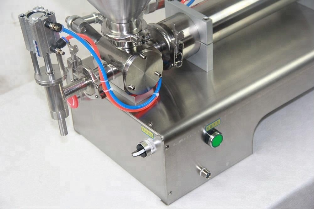 factory directly sale Semi - Automatic Cream Paste Body Lotion cream Glass/Metal Jar Filling Machine