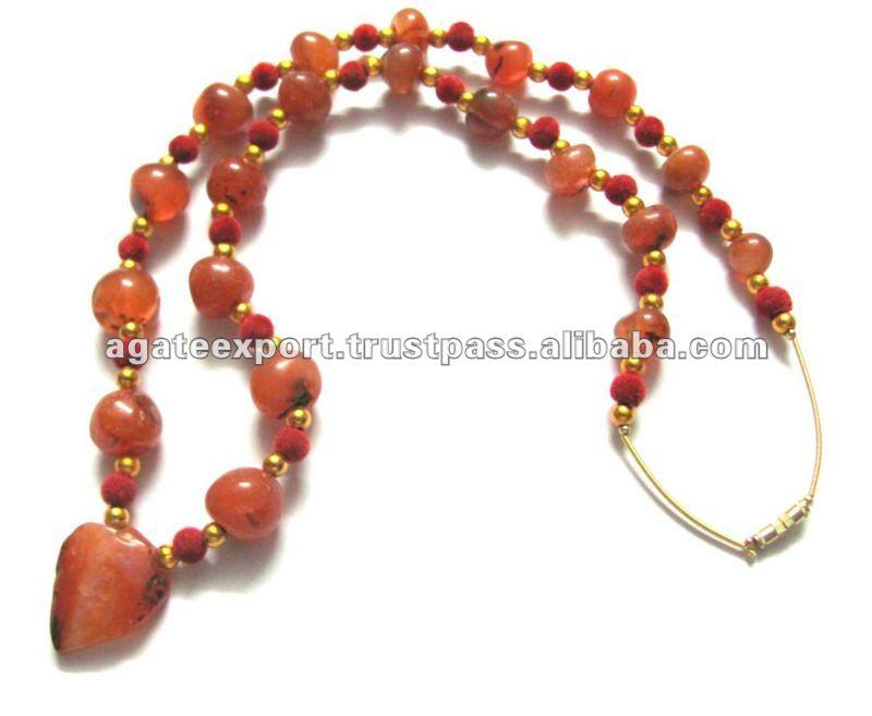 Akik Stone Necklace : Akik Necklace From Khambhat