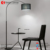 factory sale best price good quality black iron body fabric shades modern art arc fishing bend arm floor lamp