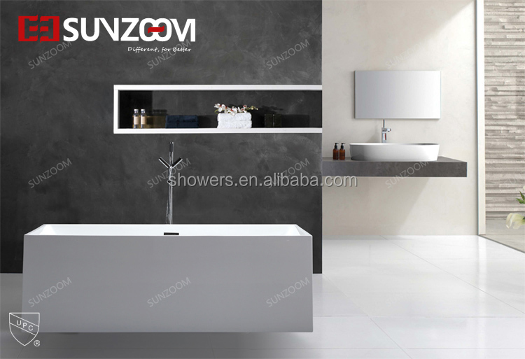Sunzoom cUPC cerfificate freestanding soaking function oblong bathtub