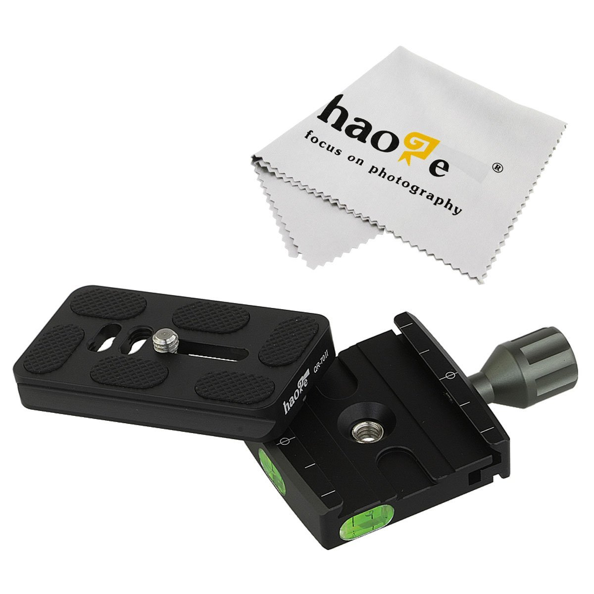 Haoge Universal Quick Release 50mm Clamp + 70mm QR-70II Plate for Camera Tripod Ball Head fit Arca Swiss
