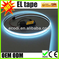 electroluminescent tape glowing el flat wire,flat flash wire,flat glow tape
