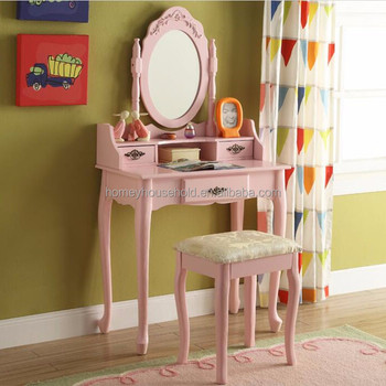 Miraculous Antique Design Pink Painted Dressing Table For Girls Room With Mirror Buy High Quality Wooden Dressing Table With Mirror Mirrored Dressing Table Download Free Architecture Designs Philgrimeyleaguecom