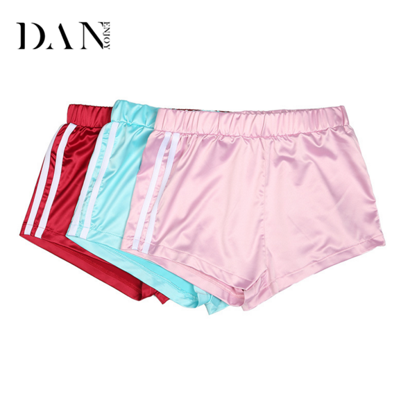 In Stock!High Grade Gorgeous Lady Hot Shorts For Girl In Pink Satin Soft Running Sports Women Wholesale Gym Shorts