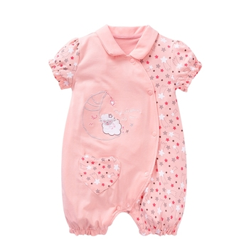 new design manufactory short sleeve romper baby Newborn clothes jumpsuit