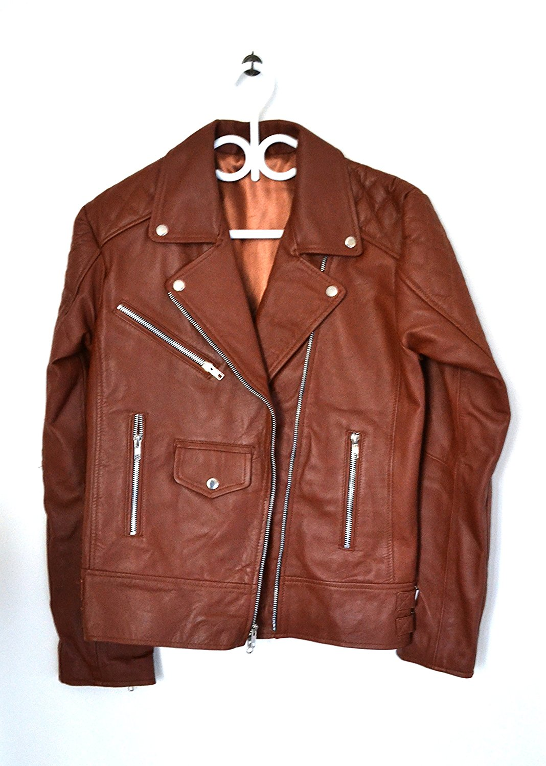 Amaya's Leather Skin Design Women Pure 100% Lambskin Leather Solid Biker Leather Jacket