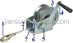 2500lbs-- portable hand manual boat winch galvanized