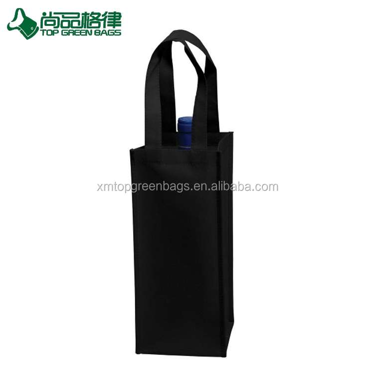 custom Non-Woven Wine bottle Tote win wine Bag for promotional