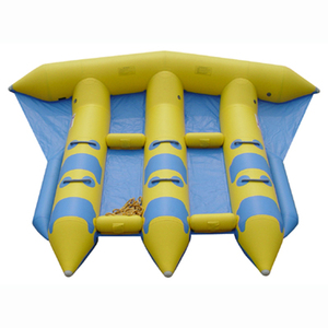 factory direct sale inflatable flying fish banana boat tube towable banana  for water game