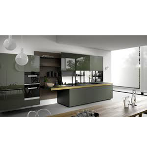 Hardware granite top kitchen cabinet with shelves and pantry sliders and organises