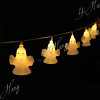 Custom christmas outdoor light string of ghost decoration lights for warm white led