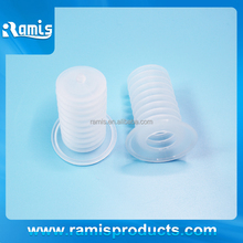 white clear soft rubber grommet