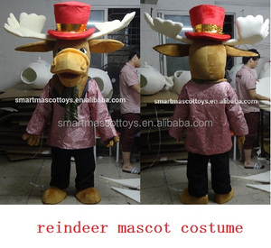 carnival christmas mascot reindeer mascot for adults