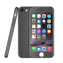 3 in 1 slim hybrid full cover protective mobile phone case for iphone 6 case 360 with tempered glass