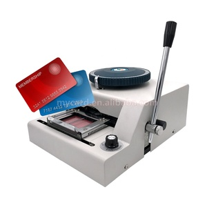 Manual PVC ID Business Card Letter Press Embossing Machine