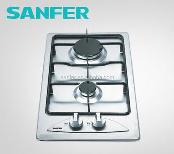 Built In Stainless Steel Mini Size 2 Burner Gas Hob Price