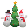 Inflatable snowmen with tree Lighted Christmas Yard Decor