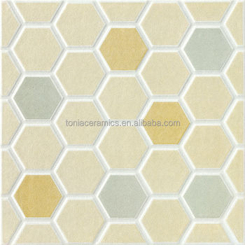 Tonia 300x300 New Model Multi Color Hexagon Brick Look Ceramic Floor