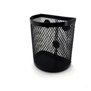 Office stationery black metal mesh magnetic pen holder