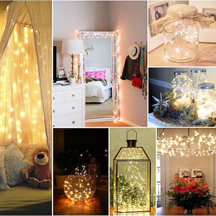 Home indoor beauty bright warm white led light table decoration