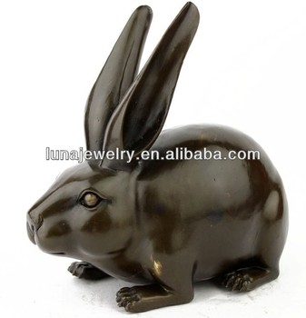 Brass Rabbit Statue
